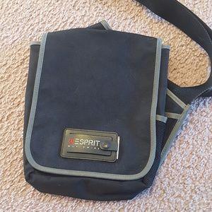 Espirit Cross Body Single Shoulder Black Bag